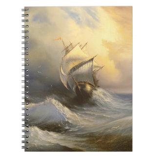 Stormy Frigate Painting Notebook