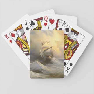 Stormy Frigate Painting Playing Cards