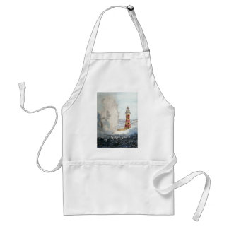 Stormy Lighthouse Adult Apron