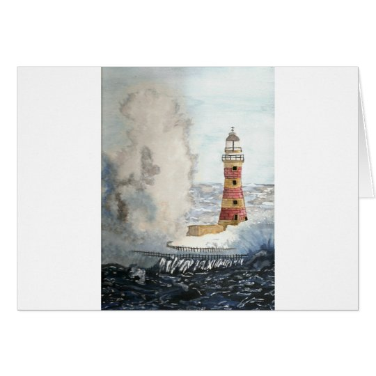 Stormy Lighthouse Card