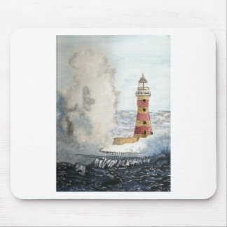 Stormy Lighthouse Mouse Pad