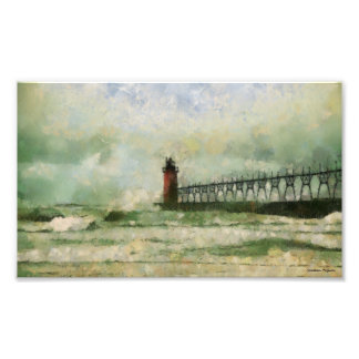 Stormy Lighthouse Photographic Print