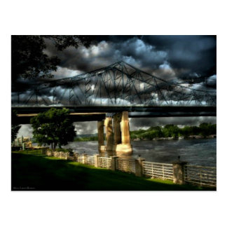 Stormy Moments At Riverside Park Lacrosse Wi Postcard