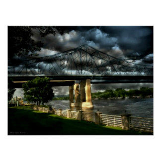 Stormy Moments at Riverside Park Lacrosse Wi Poster