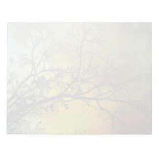 Stormy morning with tree large muted notepad