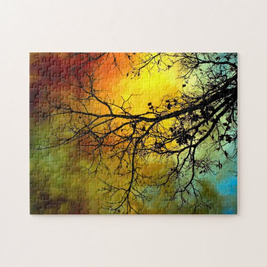 Stormy morning with tree puzzle