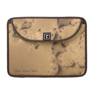 Stormy Neutral Fractal Personal MacBook Case