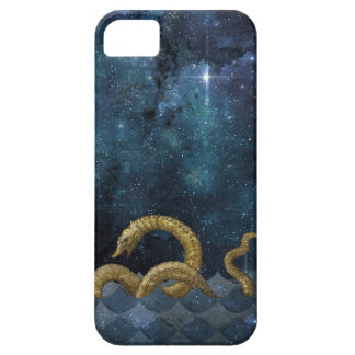 Stormy Night Sea Monster Gold Midnight Blue Stars iPhone SE/5/5s Case