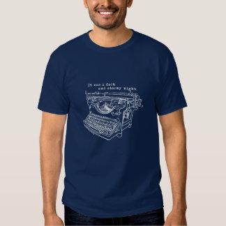 Stormy Night Typewriter T-Shirt