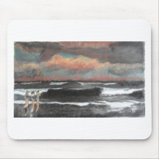 Stormy Ocean Day Mouse Pad