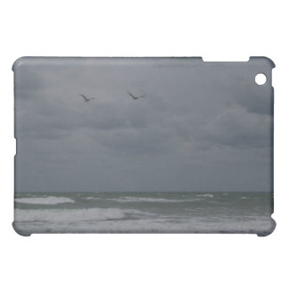Stormy ocean with birds flying iPad mini cover