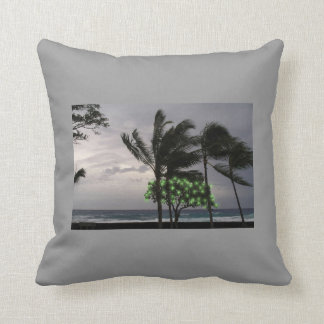 Stormy Palm Trees Pillow