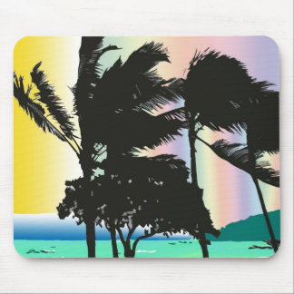 Stormy Palms in Digital Art Mouse Pad