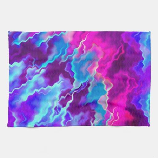 Stormy Pink Purple Teal Towel Zazzle