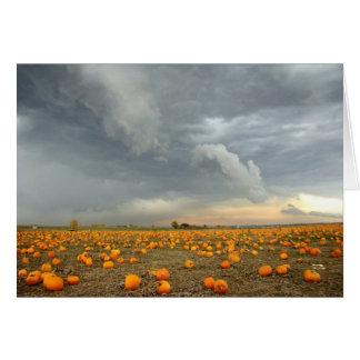 Stormy Pumpkin Patch Card
