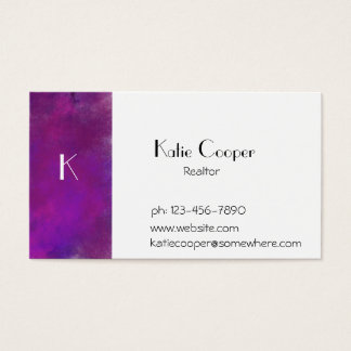Stormy Purple Texture Business Card