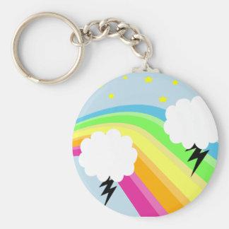 Stormy Rainbow Keychain