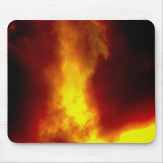 Stormy Red Clouds Motivational Photo Mouse Pad