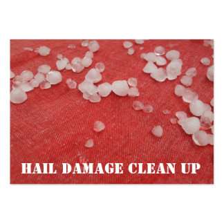 Stormy Red Seasonal Hail Damage Clean Up Large Business Cards (Pack Of 100)