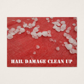 Stormy Red Seasonal Hail Damage Clean Up Business Card