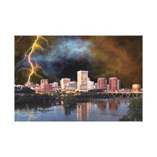 Stormy Richmond Skyline Canvas Print