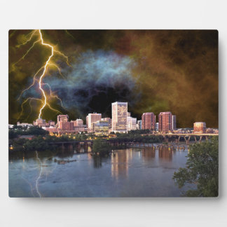 Stormy Richmond Skyline Plaque
