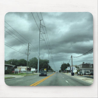 Stormy Road Mouse Pad