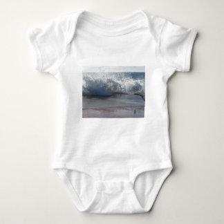 Stormy sea along Tuscany coastline Baby Bodysuit