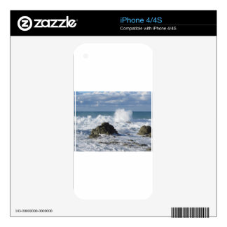 Stormy sea along Tuscany coastline Decal For iPhone 4