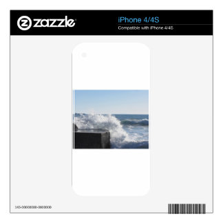 Stormy sea along Tuscany coastline Decals For The iPhone 4S