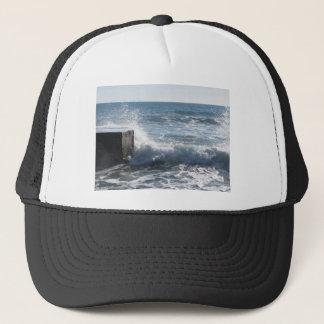 Stormy sea along Tuscany coastline in Livorno Trucker Hat