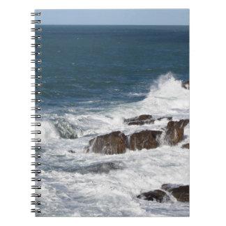 Stormy sea along Tuscany coastline Notebook