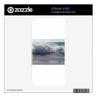 Stormy sea along Tuscany coastline Skin For The iPhone 4
