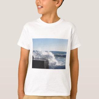 Stormy sea along Tuscany coastline T-Shirt
