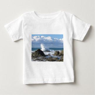 Stormy sea and sailboat along Tuscany coastline Baby T-Shirt