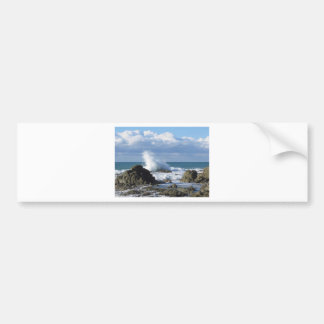 Stormy sea and sailboat along Tuscany coastline Bumper Sticker