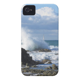 Stormy sea and sailboat along Tuscany coastline Case-Mate iPhone 4 Case