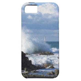 Stormy sea and sailboat along Tuscany coastline iPhone SE/5/5s Case