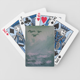 STORMY SEA BOAT BICYCLE PLAYING CARDS