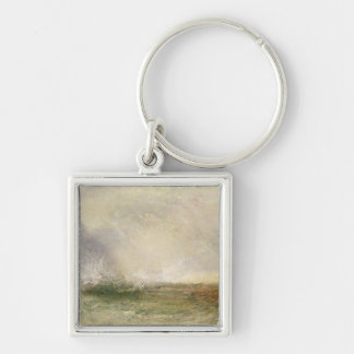 Stormy Sea Breaking on a Shore, 1840-5 (oil on can Keychains