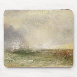 Stormy Sea Breaking on a Shore, 1840-5 (oil on can Mouse Pad