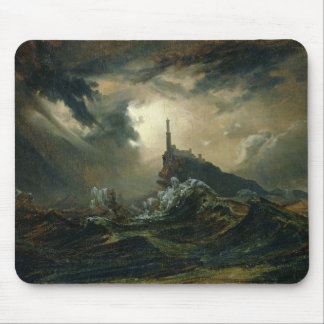 Stormy sea with Lighthouse Mouse Pad