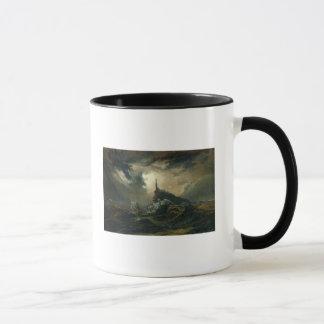 Stormy sea with Lighthouse Mug