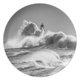 Stormy Seas at Seaham Party Plate