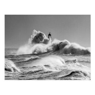 Stormy Seas at Seaham Postcard