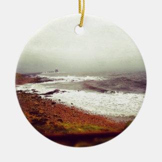 Stormy Seas Ceramic Ornament
