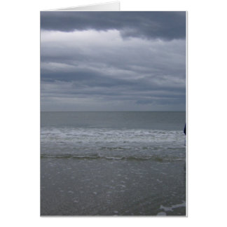 Stormy Seas Coming Greeting Card