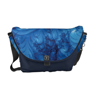 Stormy Seas Fractal Courier Bags