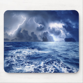 stormy seas mouse pad