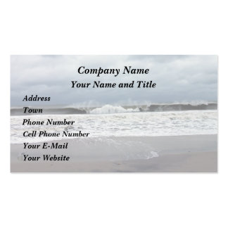 Stormy Seas of the Atlantic Ocean Double-Sided Standard Business Cards (Pack Of 100)
